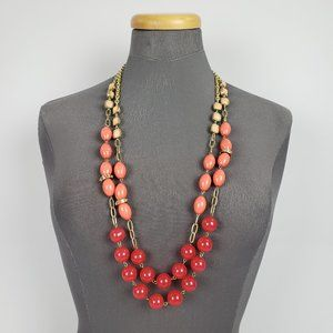 Jewelry - Pink & Gold Beaded Necklace